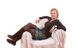Relaxamento na cadeira Imagens de Stock Royalty Free