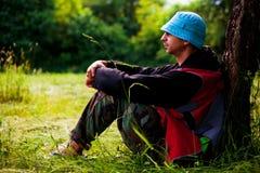 Relaxamento na natureza Fotografia de Stock Royalty Free