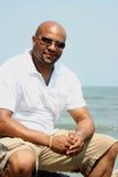 Relaxamento na praia Fotos de Stock Royalty Free