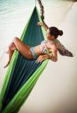 Relaxamento na rede Fotos de Stock Royalty Free