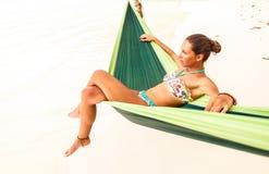 Relaxamento na rede Foto de Stock Royalty Free