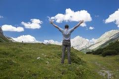Relaxamento nas montanhas Fotos de Stock