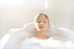 Relaxamento no banho Imagem de Stock