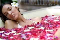 Relaxamento no banho Imagens de Stock