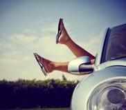 Relaxamento no carro Imagem de Stock Royalty Free
