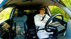 Relaxamento no carro Imagens de Stock