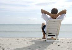 Relaxamento no mar Foto de Stock Royalty Free