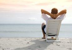 Relaxamento no mar Fotografia de Stock