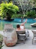 Relaxamento pela associação Imagem de Stock