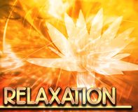 Relaxation Abstract concept digital illustration Royalty Free Stock Photography