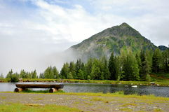 Relaxation in Alps nature Royalty Free Stock Image