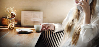 Relaxation appelle le concept de loisirs de café de café photo libre de droits