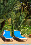 Relaxation area in an exotic holiday resort  2. Relaxation area in an exotic holiday resort Royalty Free Stock Images