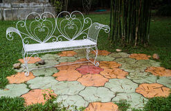 Relaxation area in a garden Royalty Free Stock Images