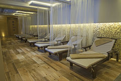 Relaxation area of a luxury health spa Royalty Free Stock Image
