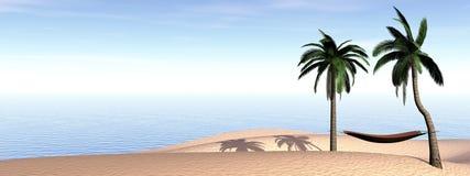 Relaxation aux vacances - 3D rendent Photos stock