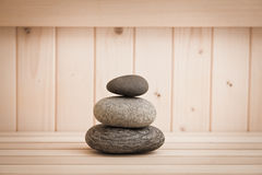 Relaxation background in sauna Royalty Free Stock Images