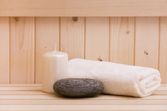 Relaxation background in sauna Stock Image