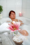 Relaxation in bath Royalty Free Stock Images