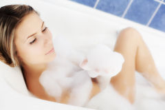 Relaxation in bath Stock Photos