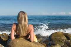 Relaxation at the beach Royalty Free Stock Photography