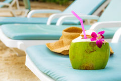 Relaxation on beach Royalty Free Stock Photo