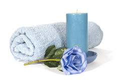Relaxation in Blue Stock Image