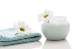 Relaxation and body treatment. Still life: relaxation and body treatment stock image