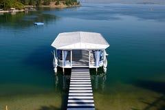 Relaxation building near beach on Mediterranean turkish resort Royalty Free Stock Photography