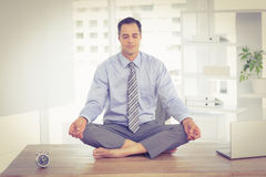 Relaxation of businessman Stock Images