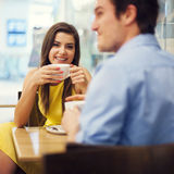 Relaxation in cafe royalty free stock photography