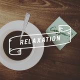 Relaxation Caffeine Beverage Leisure Concept Stock Photo