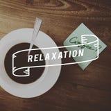 Relaxation Caffeine Beverage Leisure Concept. Relaxation Coffee Beverage Leisure Concept Stock Photo