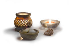 Relaxation candles Royalty Free Stock Image