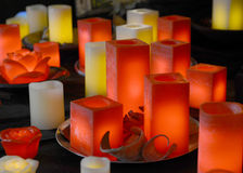 Relaxation candles Stock Photos