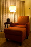 Relaxation chair in a corner of hotel room. Armchair in a corner of hotel room Royalty Free Stock Photos