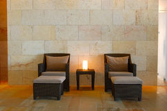 Relaxation chairs at modern SPA Stock Photography