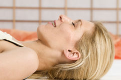 Relaxation closed eyes Royalty Free Stock Images