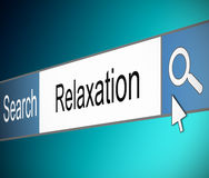 Relaxation concept. Illustration depicting a screen shot of an internet search bar containing a relaxation concept Royalty Free Stock Image