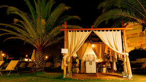 Relaxation concept - massage tent at night Stock Photography