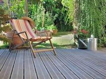 Relaxation dans la terrasse Photographie stock