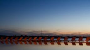 Relaxation dans le delta de Danube Images stock