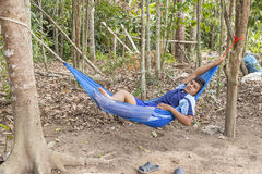 Relaxation dans le jardin photos libres de droits