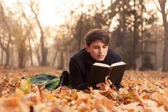 Relaxation dans les feuilles Photo libre de droits