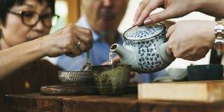 Relaxation de Cafe Caffeine Drink de barman de boisson photos libres de droits