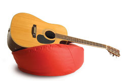 Relaxation de guitare Images libres de droits