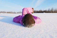 Relaxation de l'hiver photo libre de droits