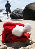 Relaxation de lendemain de Noël de Noël de plage Photos stock
