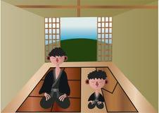Relaxation de obtention japonaise illustration libre de droits