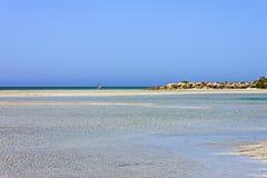 Relaxation de plage d'Elafonisi images libres de droits